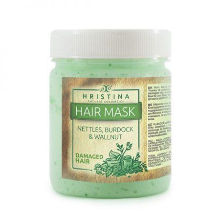 Natuurlijke haarmasker voor beschadigd en slap haar